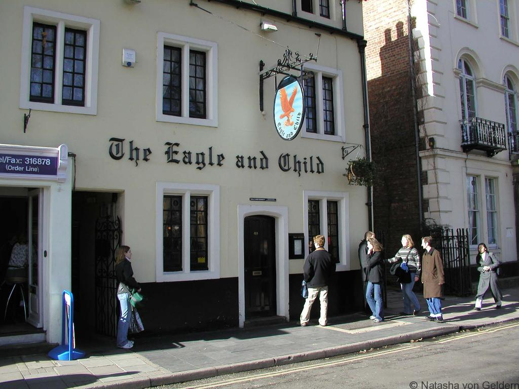 Eagle and Child Pub Oxford, photo by Jandy Stone via the Creative Commons License