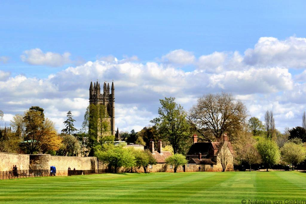 Oxford across the fields, England