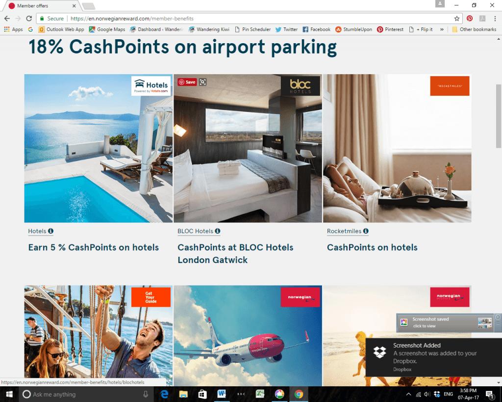 Norwegian Rewards CashPoints