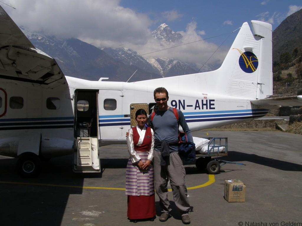 Flight to Lukla Khumbu Nepal trekking