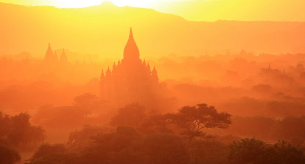 Bagan sunset in Myanmar