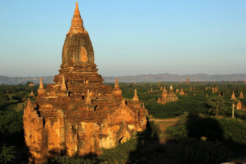 Bagan temples at sunrise Myanmar