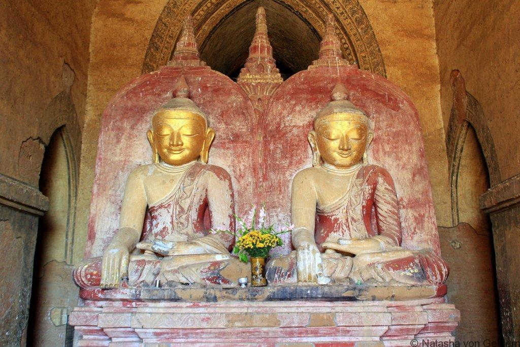 Double Buddha statue Dhammayangyi Temple Bagan Myanmar