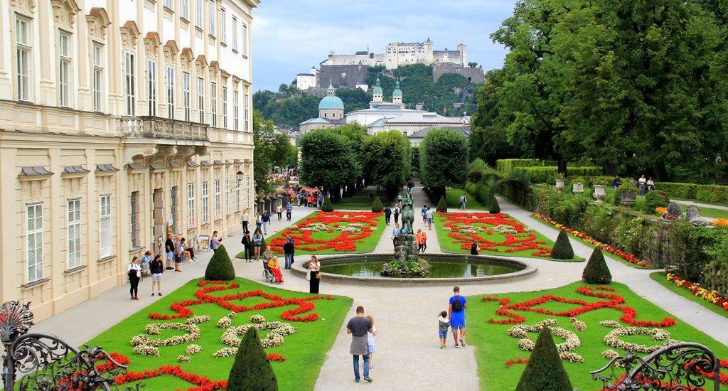 Mirabell Gardens Salzburg Austria