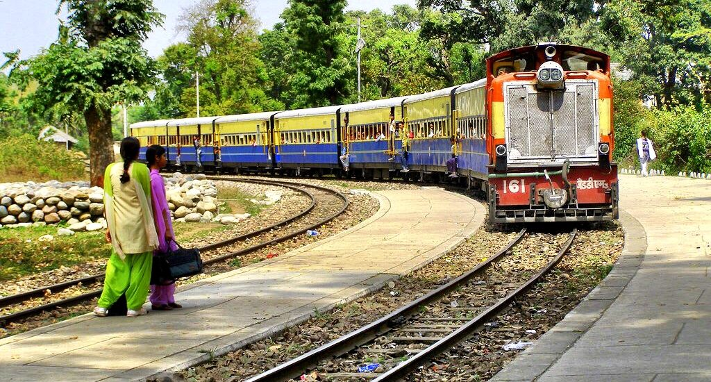Waiting for the Kangra Valley Train Journey India