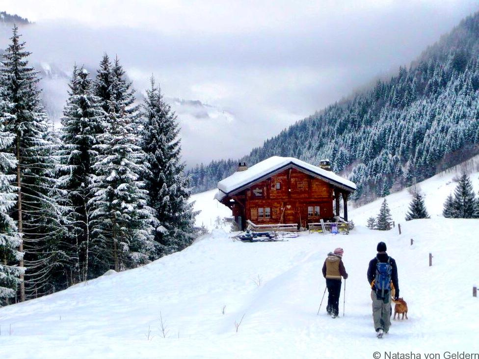Randonee in winter Morzine Avoriaz France