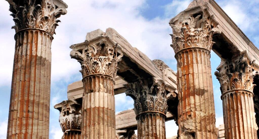 Temple of Zeus columns Athens Greece