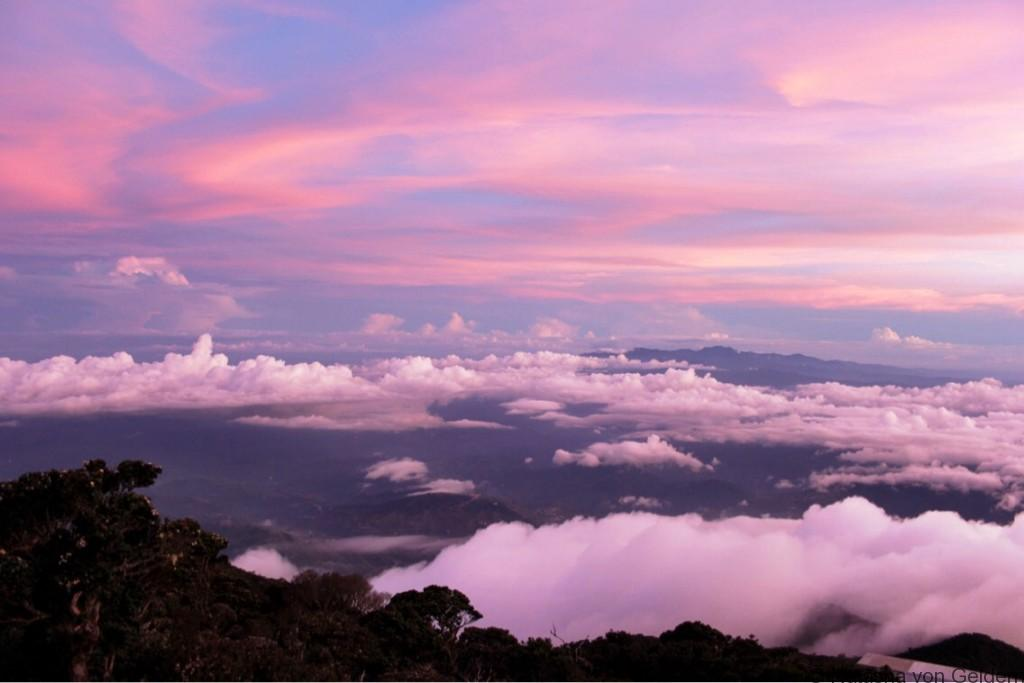 Laban Rata sunset Mt Kinabalu Malaysia