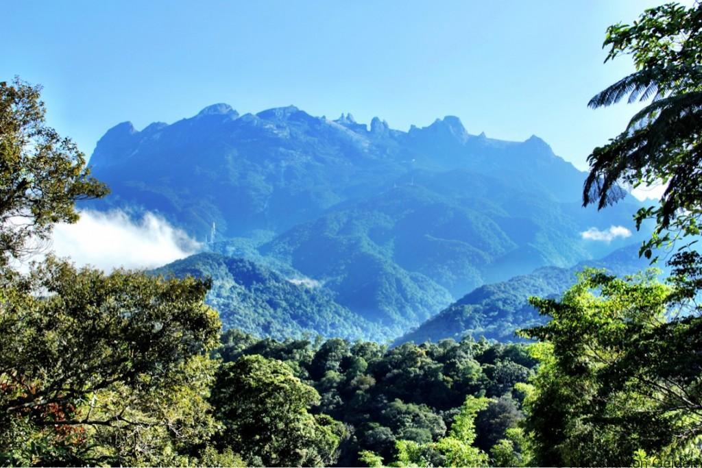 Mt Kinabalu from Timpohon gate Malaysia Borneo
