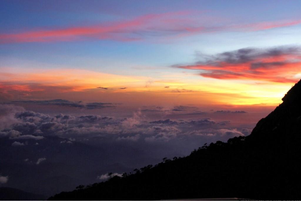 Sunset at Laban Rata Mt Kinabalu Malaysia
