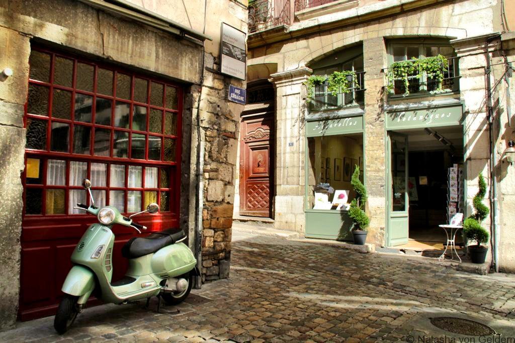 Lyon street scene France