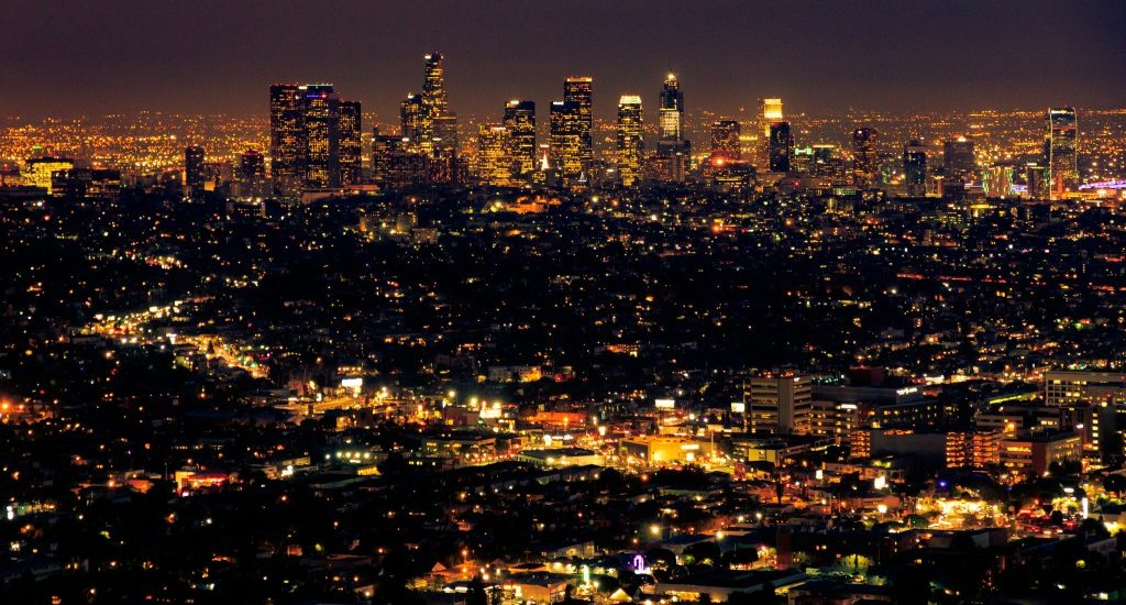 LA at night from the Griffith Observatory photo by Stig Nygaard via the Creative Commons License