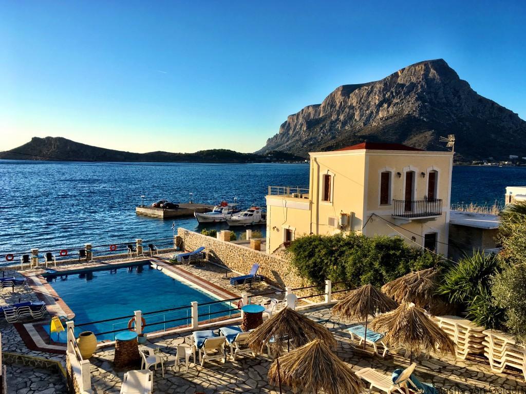 View of Telendos from Babis Kalymnos Greece
