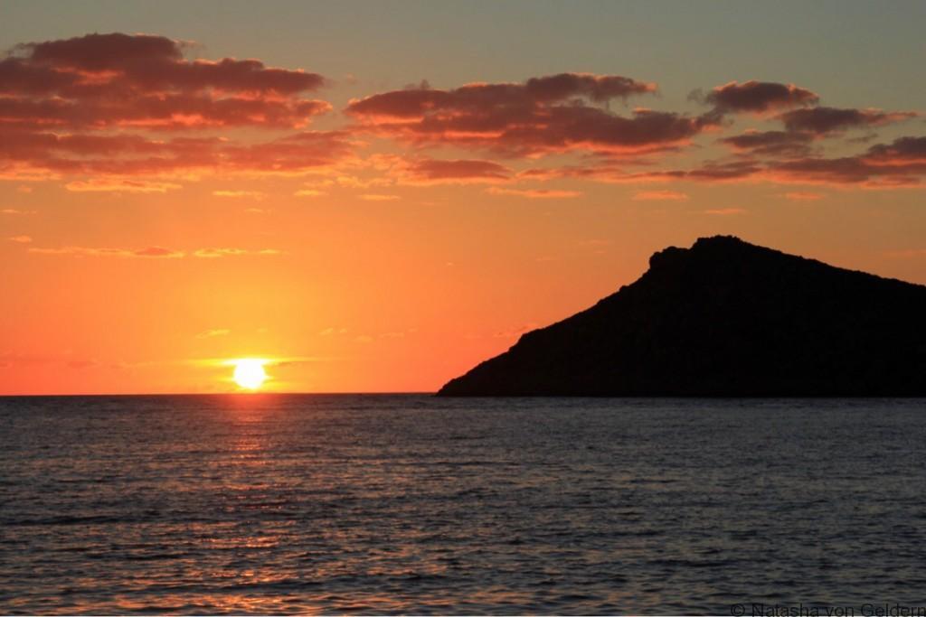 Telendos sunset from Kalymnos Greek Islands holiday