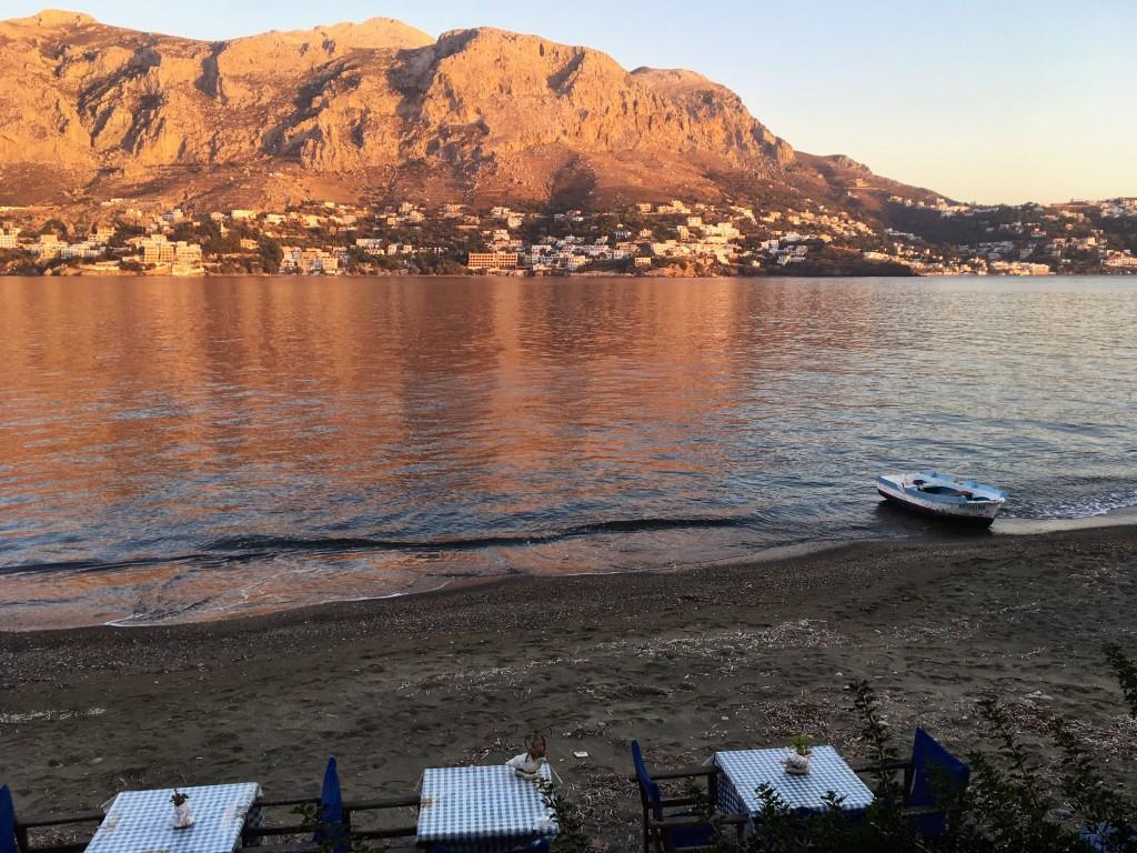 View from Telendos to Massouri Kalymnos Greece